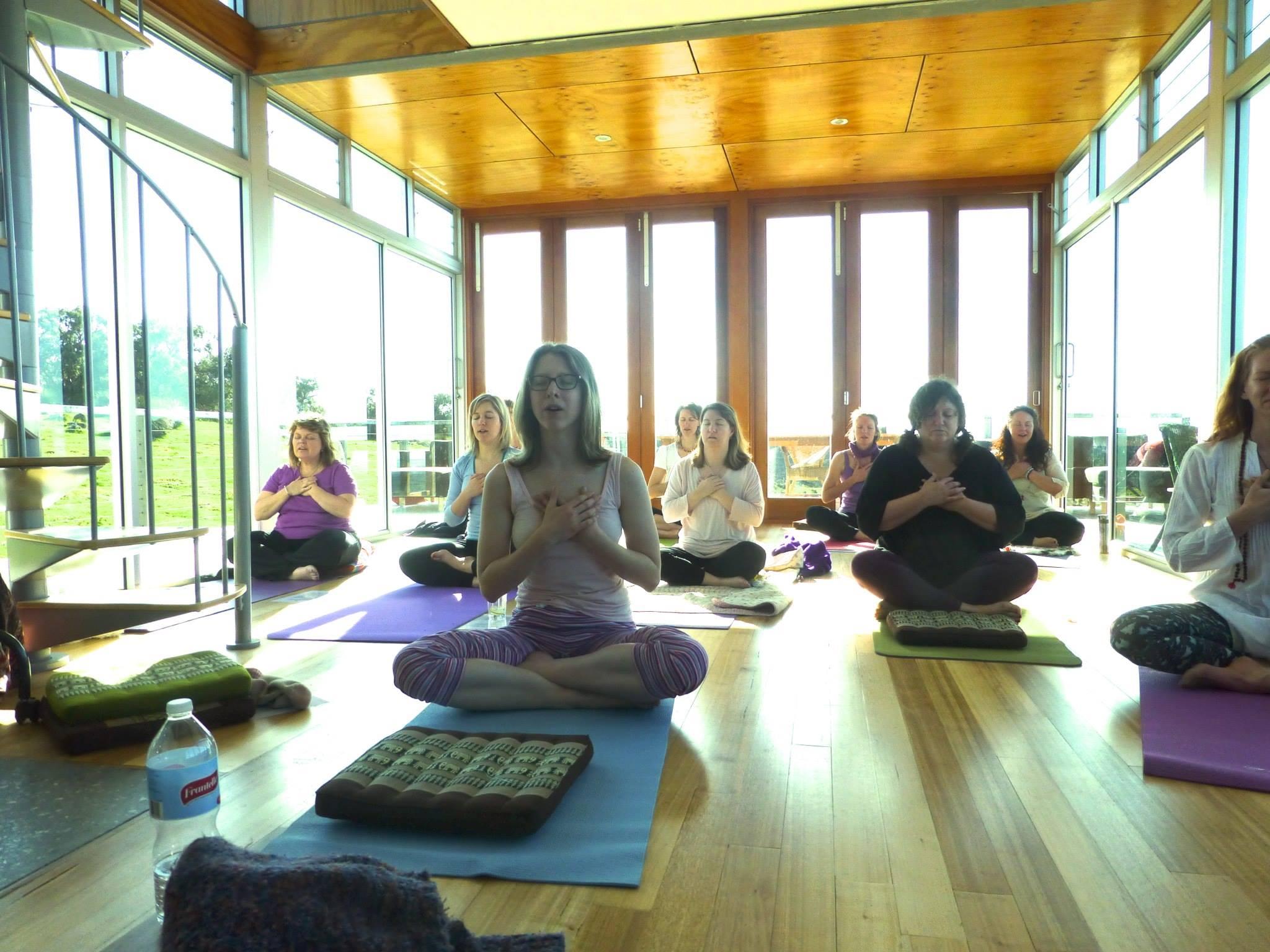 At the eco lodge - Sacred Women's Soul Retreat Kundalini Yoga class