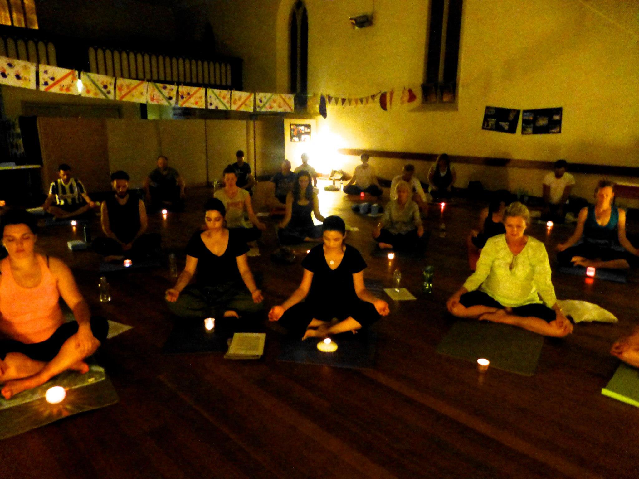 Christmas Kundalini Yoga, candle gazing meditation